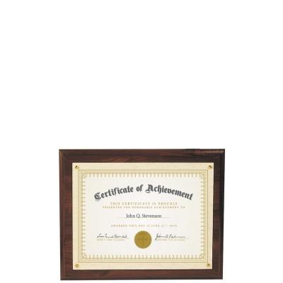 Recessed Certificate Plaque, Cherrywood