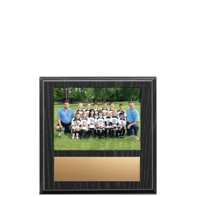 Plaque, Slide In Photo Black Oak 9x9.5