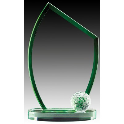 """Glass Golf with Green Edge 7.5"""""""