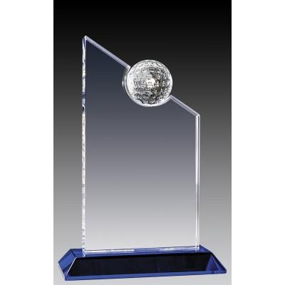 """Crystal Peak w Golf Ball, Blue Base 8.5"""""""