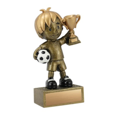 """Kid's Soccer Resin, Boy 5"""""""