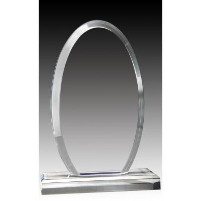 """Clear Oval Acrylic Top & Base, 7.75"""""""