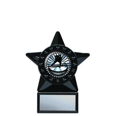 "Acrylic Holder with Solar Series Insert, Black Star 6"""