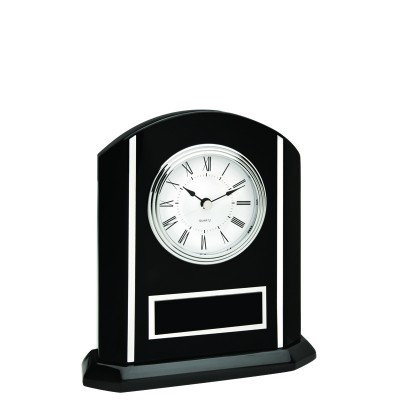 Black Clock w/Silver Inlay