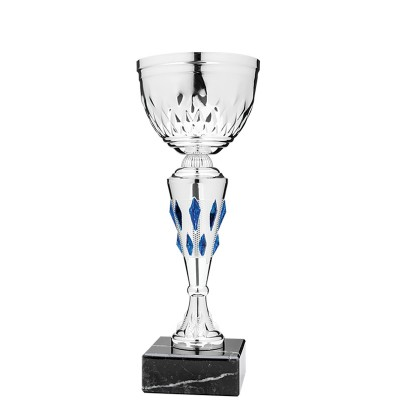 """Economy Cup Silver, Blue Jewels 10.5"""""""