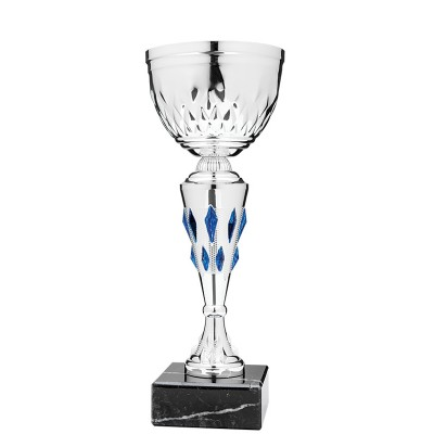 Economy Cup Silver, Blue Jewels 11.5""