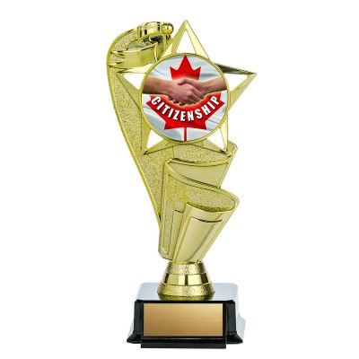 """Economy Insert Award, Ribbons and Star on Base with Insert, 7"""""""