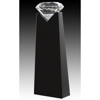 """Crystal Diamond on Black Plaque 8"""""""