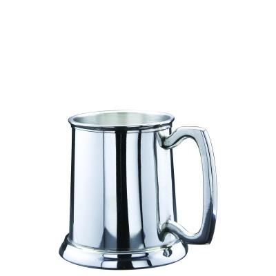 Tankard Pewter 16 oz w Glass Base