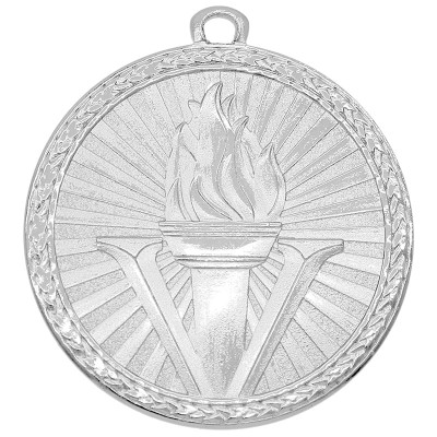"""Medal Triumph 2"""" Dia. Victory, Bright Silver"""