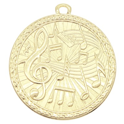 "Medal Triumph 2"" Dia. Music, Bright Gold"