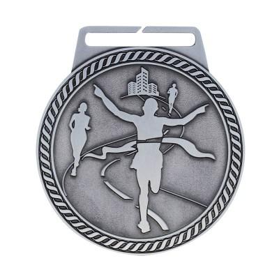 "Medal Titan Marathon 3"" Dia. Silver"