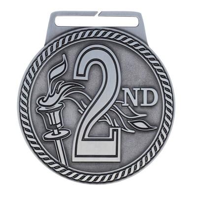 """Medal Titan 2nd 3"""" Dia. Silver"""