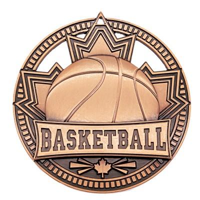 "Basketball Medal Patriot 2.75"" Bronze"