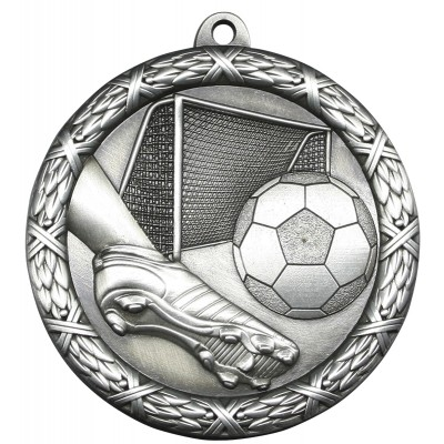 """Medal Classic 2.5"""" Soccer Silver"""