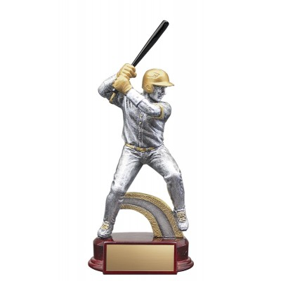 Resin Classic Male Baseball Silver/Gold 8.5""