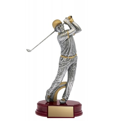 """Golfer Classic Male Resin Silver/Gold 7.5"""""""