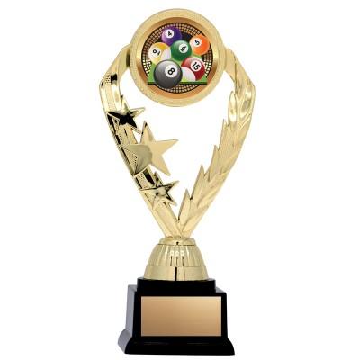 """Economy Insert Award Stars/Wreath 2"""" Holder with Base, 7"""""""