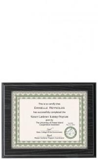 Recessed Certificate Plaque, Black