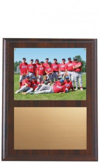 Recessed Photo Plaque, Cherrywood