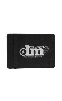 Wallet Black Engraves Silver