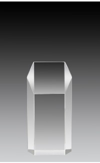 """Clear Acrylic Hex Tower 6"""" x 3"""" x 2"""""""