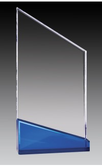 Clear Acrylic Peak, Blue Base 9""