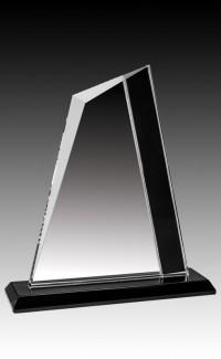 """Onyx Series Clear/Black Glass, Peak 7.75"""""""