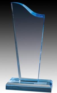 "Acrylic Sapphire Wave, 10.75"" Top & Base"