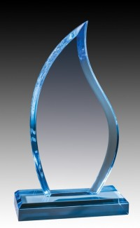 Blue Flame Acrylic with Base, 9.75""