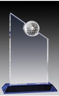"""Crystal Peak w Golf Ball, Blue Base 7.5"""""""