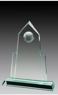 "Jade Glass Golf Ball, Peak 8 1/2"""