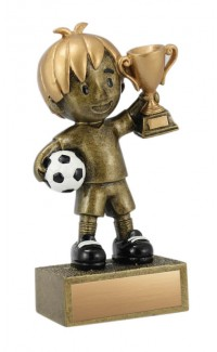 Kid's Soccer Resin, Boy 5""