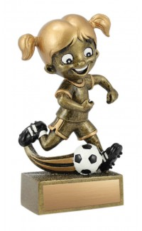 Kid's Soccer Resin, Girl 5""