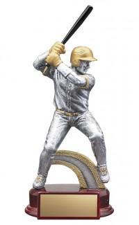 "Resin Classic Male Baseball Silver/Gold 6.5"""