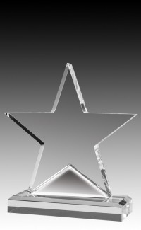 Alpine Series Clear Acrylic Star on Base, 6.5""
