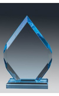 Blue Arrowhead Acrylic with Base, 9.75""