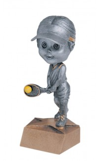 Resin - Bobblehead Female Tennis 5.75""