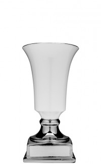 White/Silver Contempo Ceramic Cup, 11.75""