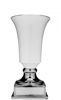 White/Silver Contempo Ceramic Cup, 14""