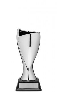 """Silver Contempo Ceramic Cup, 9.75"""""""