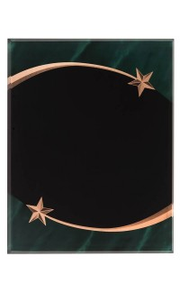 ACR PLAQUE STAR GREEN 9 x 11