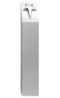 Aluminum Pillar with Silver Star 8.5""