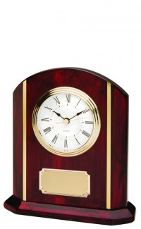 Rosewood Clock w/Gold Inlay