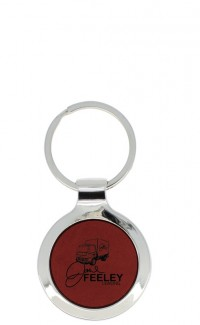 Key Chain Round Burgundy