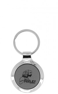 Key Chain Round Grey