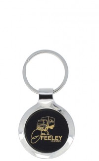 Key Chain Round Black
