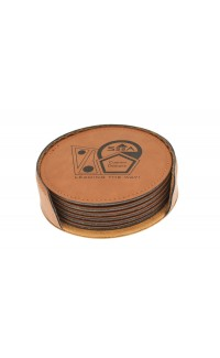 Rawhide Coasters Round