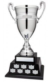 Annual Cup, Silver on Black Base 22""