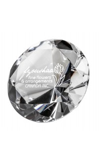 Crystal Diamond Paperweight, 3""